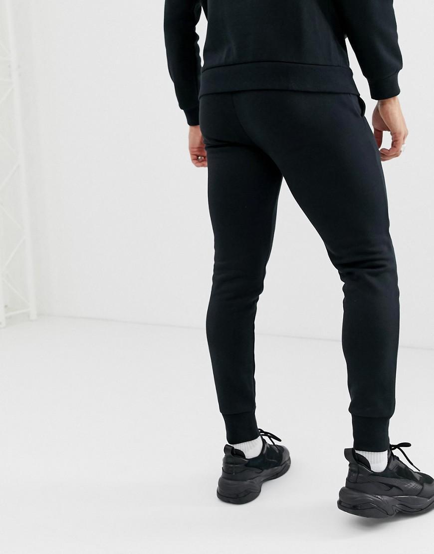 d53b88e273d3 PUMA Essentials Skinny Fit joggers In Black in Black for Men - Lyst