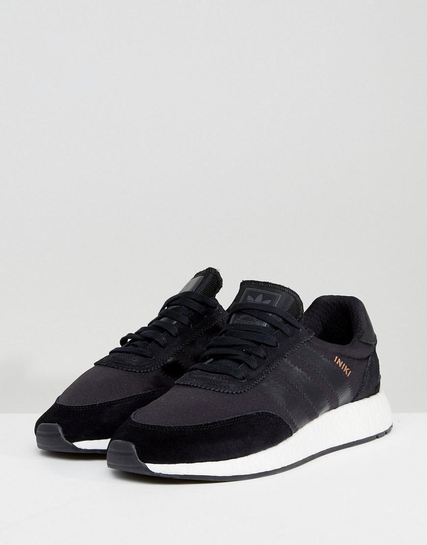 adidas Originals Suede Iniki Runner Boost Sneakers In Black By9730 for Men