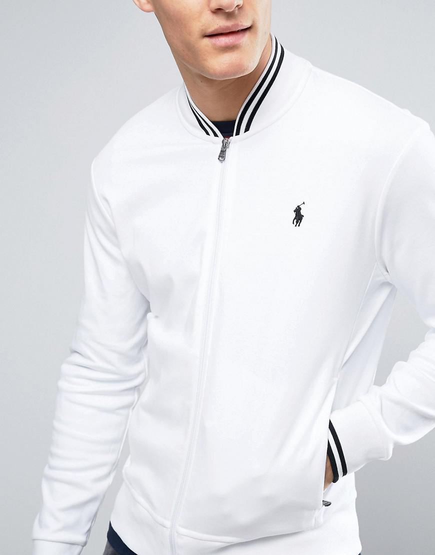 Men In Polo White Jacket Bomber With Ralph For Edging Lauren Tipped PwXuTOkZi