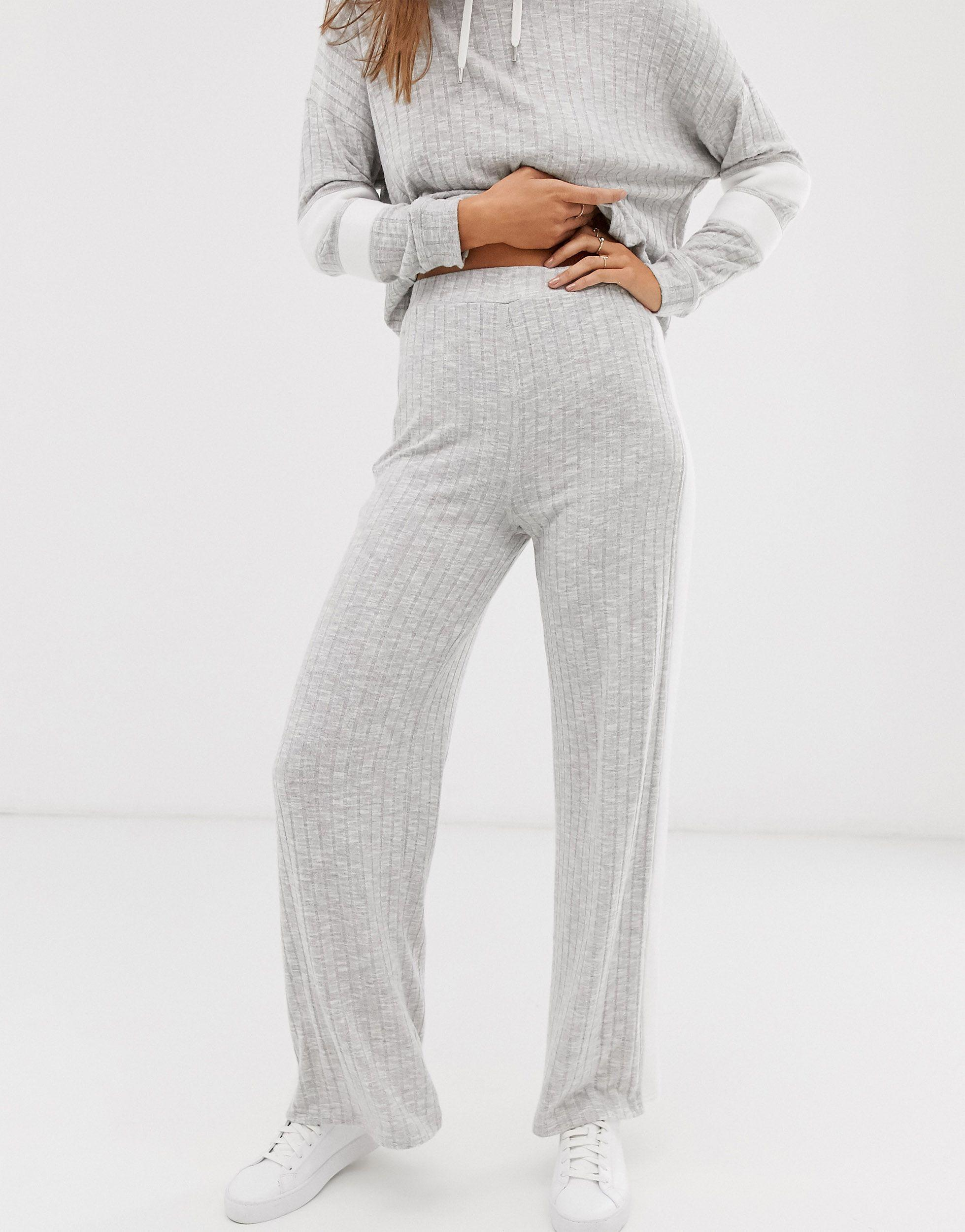 Pantalon large côtelé (ensemble) Coton Micha Lounge en coloris Gris