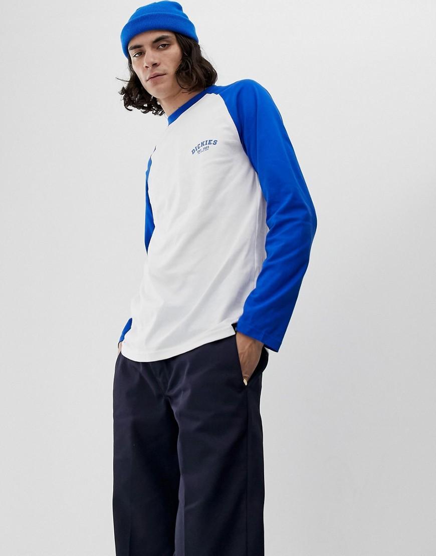 4d043bc1 Dickies - Baseball Raglan Long Sleeve T-shirt With Blue Sleeve for Men -  Lyst. View fullscreen