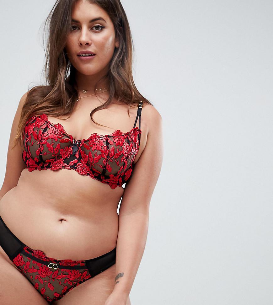 43ad22ada1f Ann Summers - Red Cecile Lace Brazilian Brief - Lyst. View fullscreen