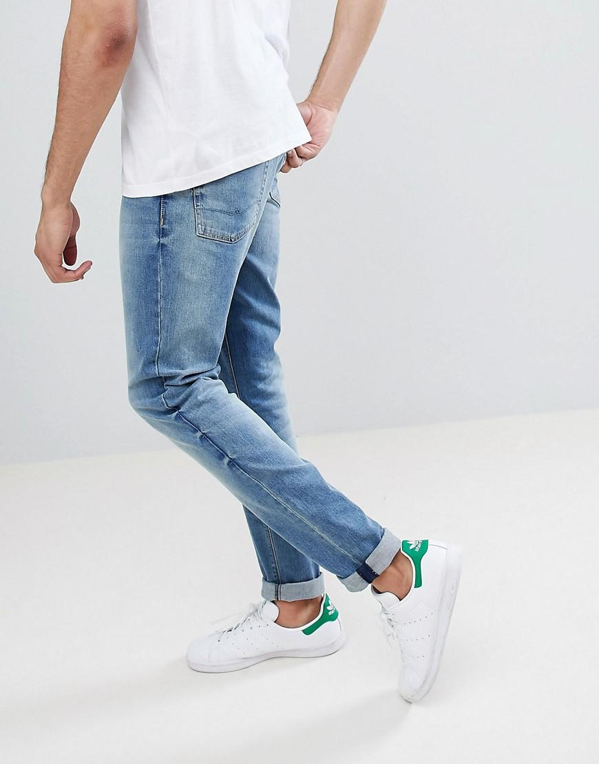 ASOS Denim Tall Skinny Jeans In Mid Wash in Blue for Men