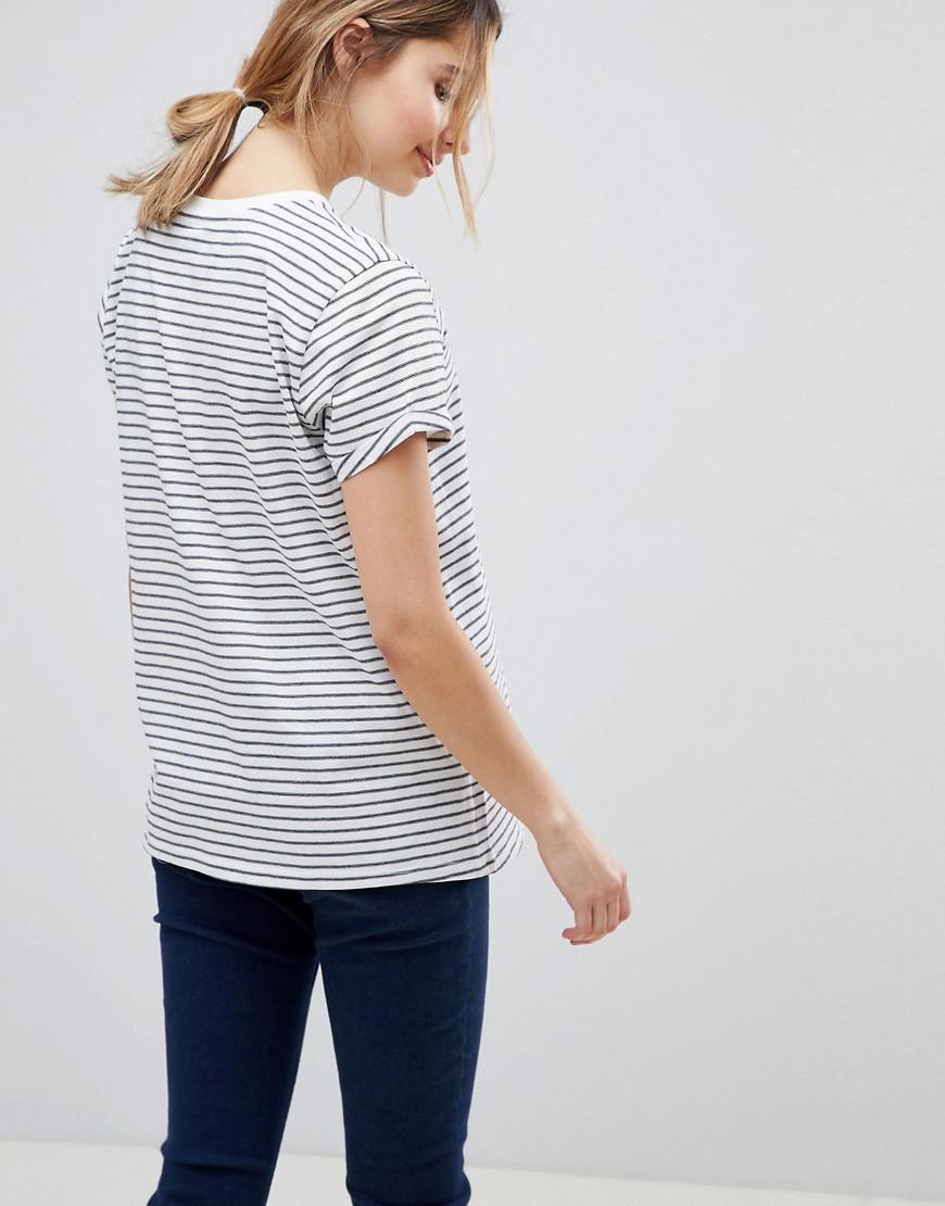 80d24d685a0ef Lyst - ASOS Asos Design Maternity Easy T-shirt In Stripe 2 Pack Save in Blue