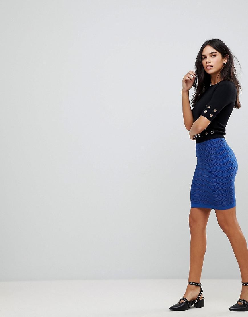 Y.A.S Sesley Zig Zag Jersey Bodycon Skirt 100% Guaranteed Cheap Price cwDKHc
