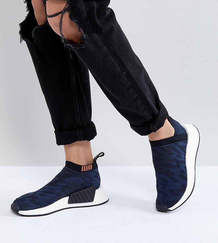 adidas Originals Originals Nmd Cs2 Shadow Knit Trainers In Navy in ...