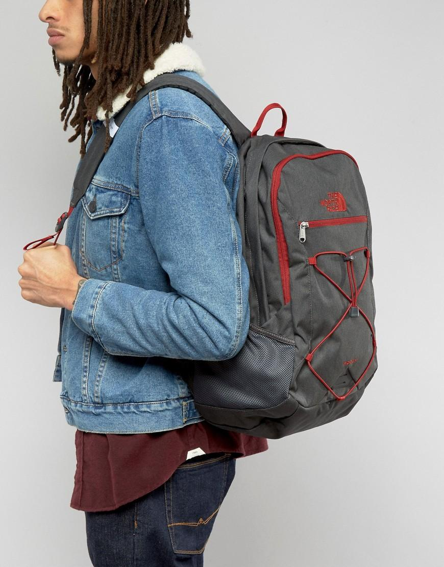 The North Face Rodey Backpack In Gray in Gray for Men - Lyst 10ae074ec22b