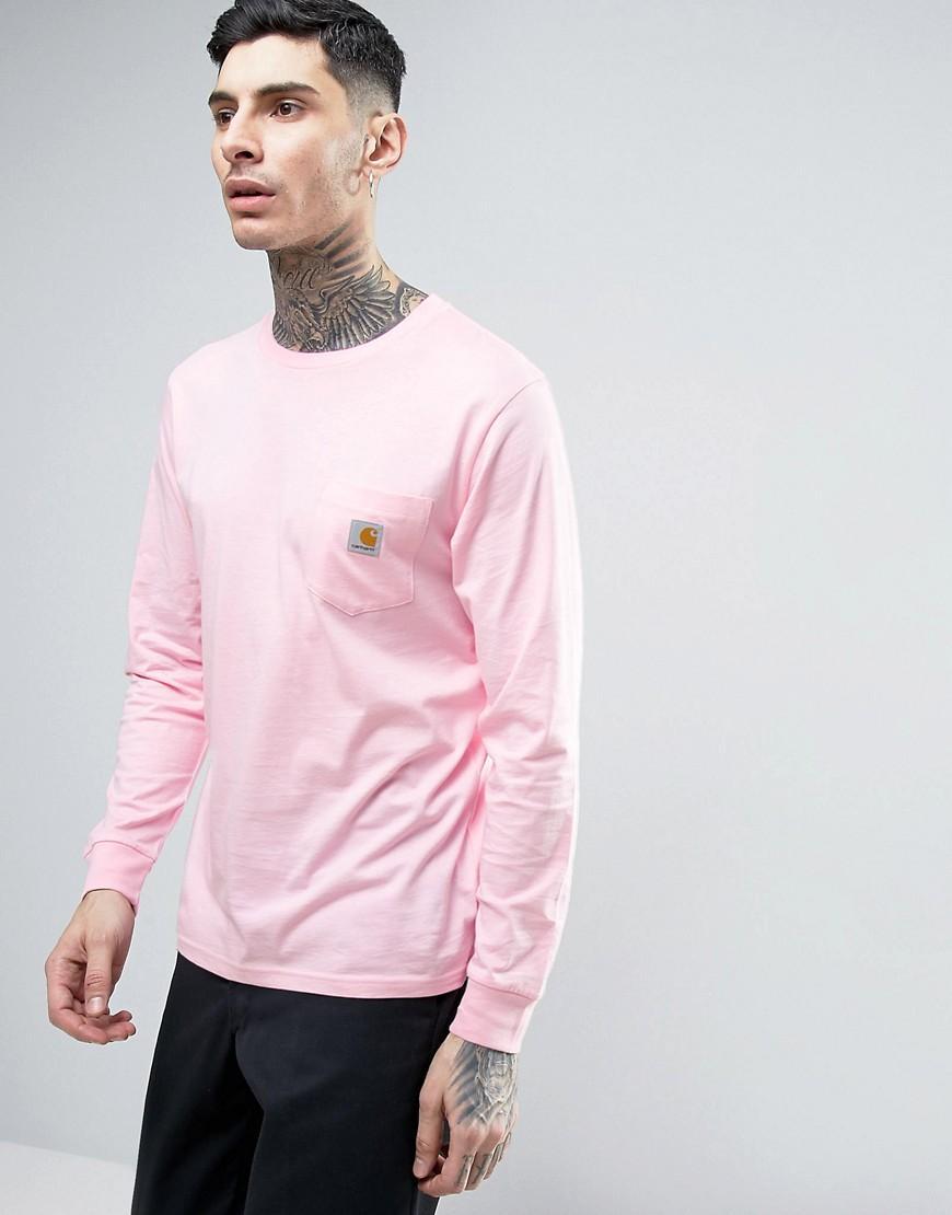 Pink long sleeve t shirt mens shirts rock for Mens pink long sleeve shirt