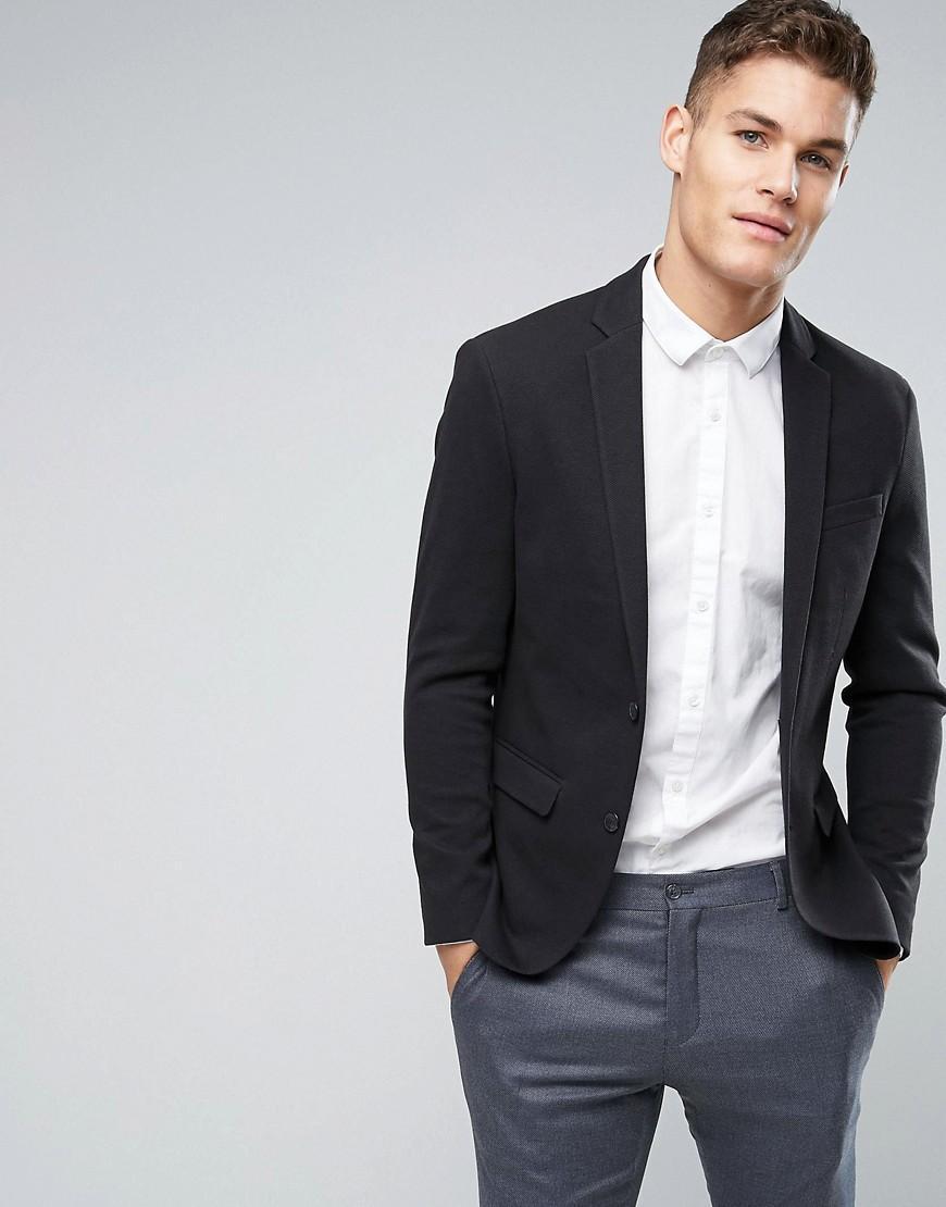 Jack U0026 Jones Premium Slim Jersey Blazer In Black For Men | Lyst