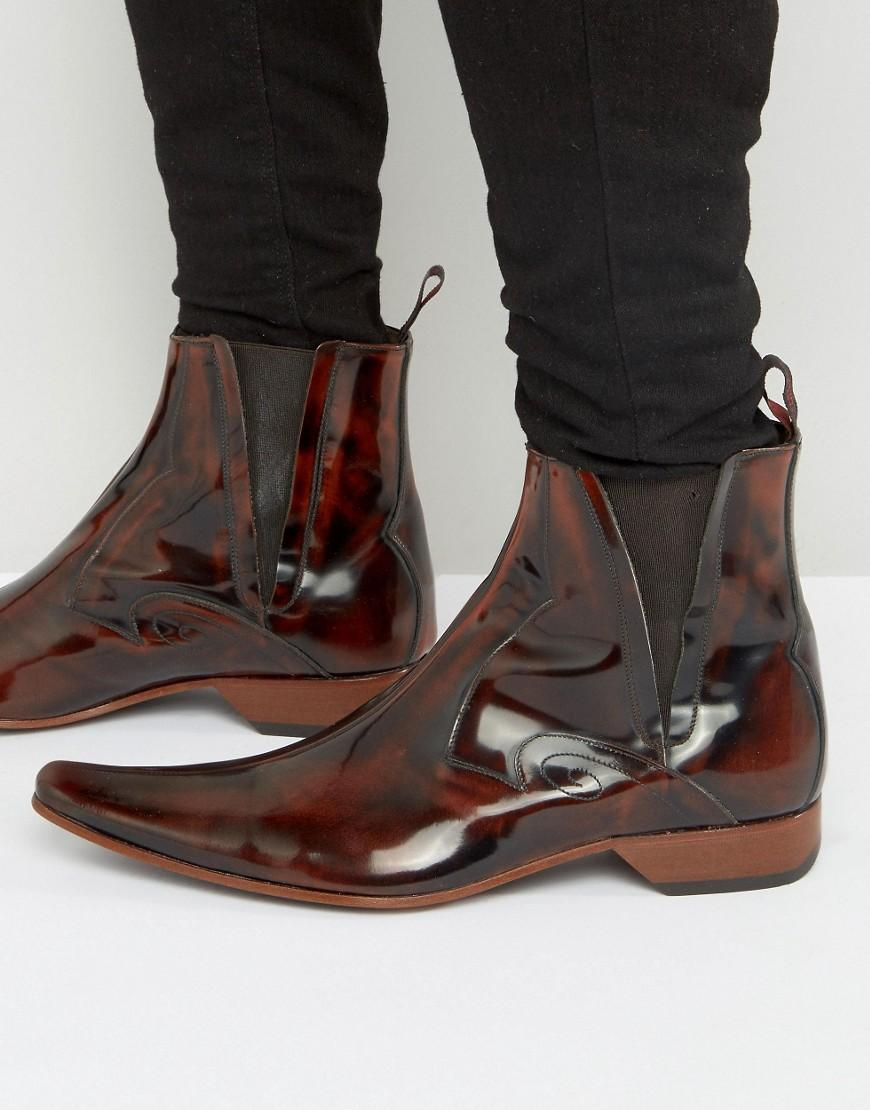 Jeffery West Leather Pino Chelsea Boots