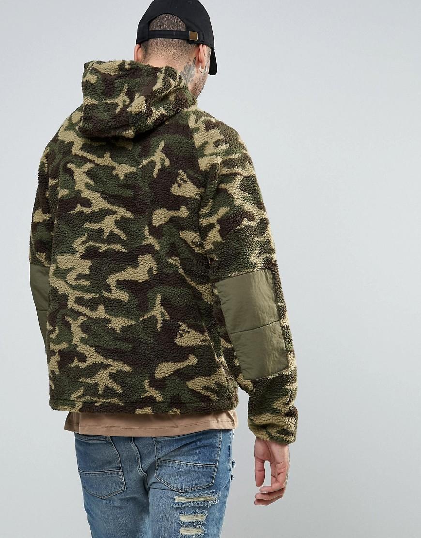 BBCICECREAM Cotton Hooded Windbreaker Jacket In Camo in Green for Men