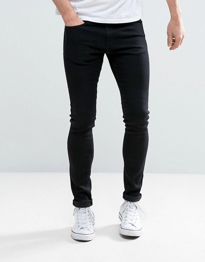 pull bear super skinny jeans in black in black for men lyst. Black Bedroom Furniture Sets. Home Design Ideas