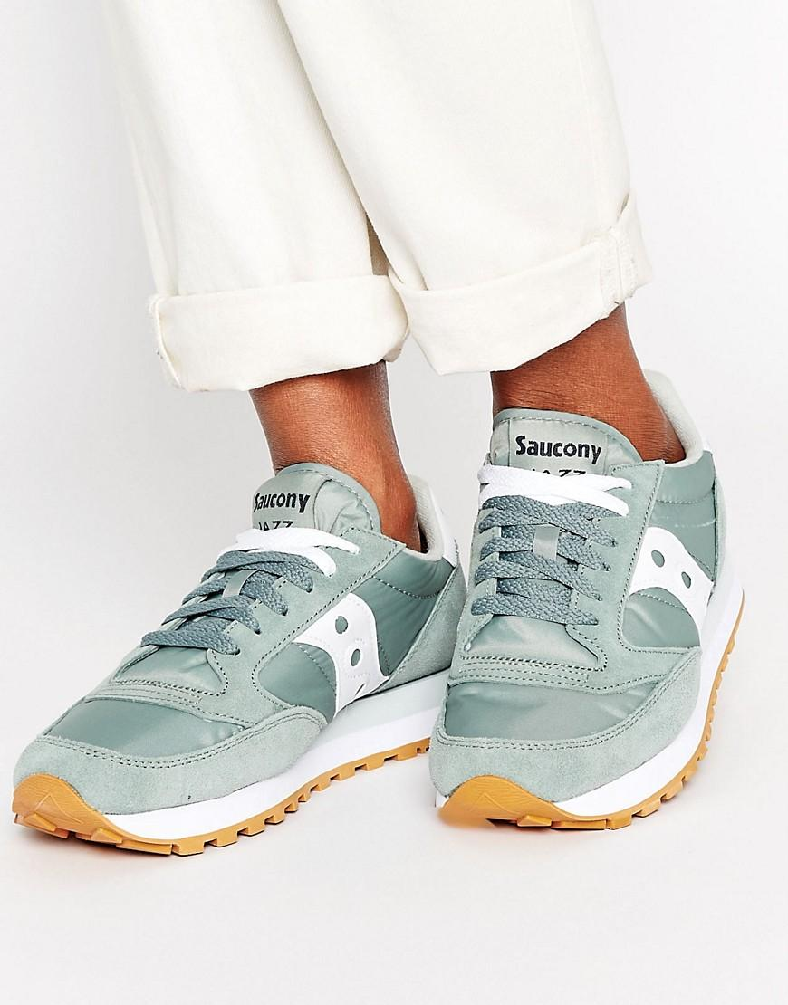 new product db8d9 27e88 Saucony Jazz Original Trainers In Green in Green - Lyst