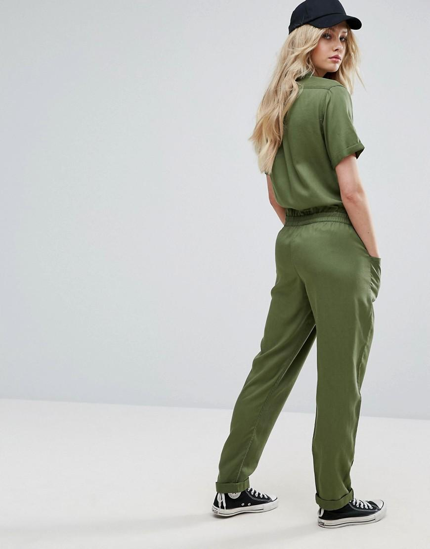 Lee Jeans Denim Utility Jumpsuit in Green