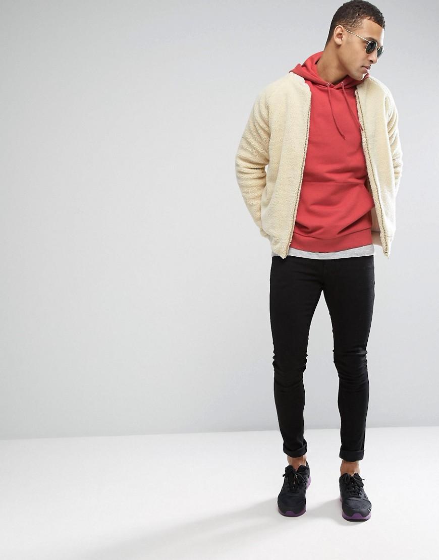 ASOS Cotton Oversized Hoodie In Orange for Men
