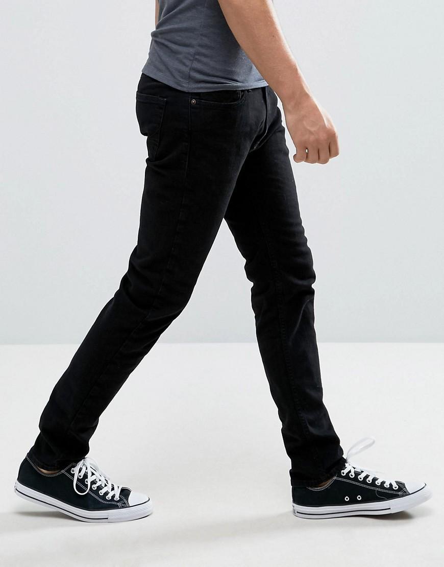 Hollister Denim Super Skinny Stretch Jeans In Black for Men