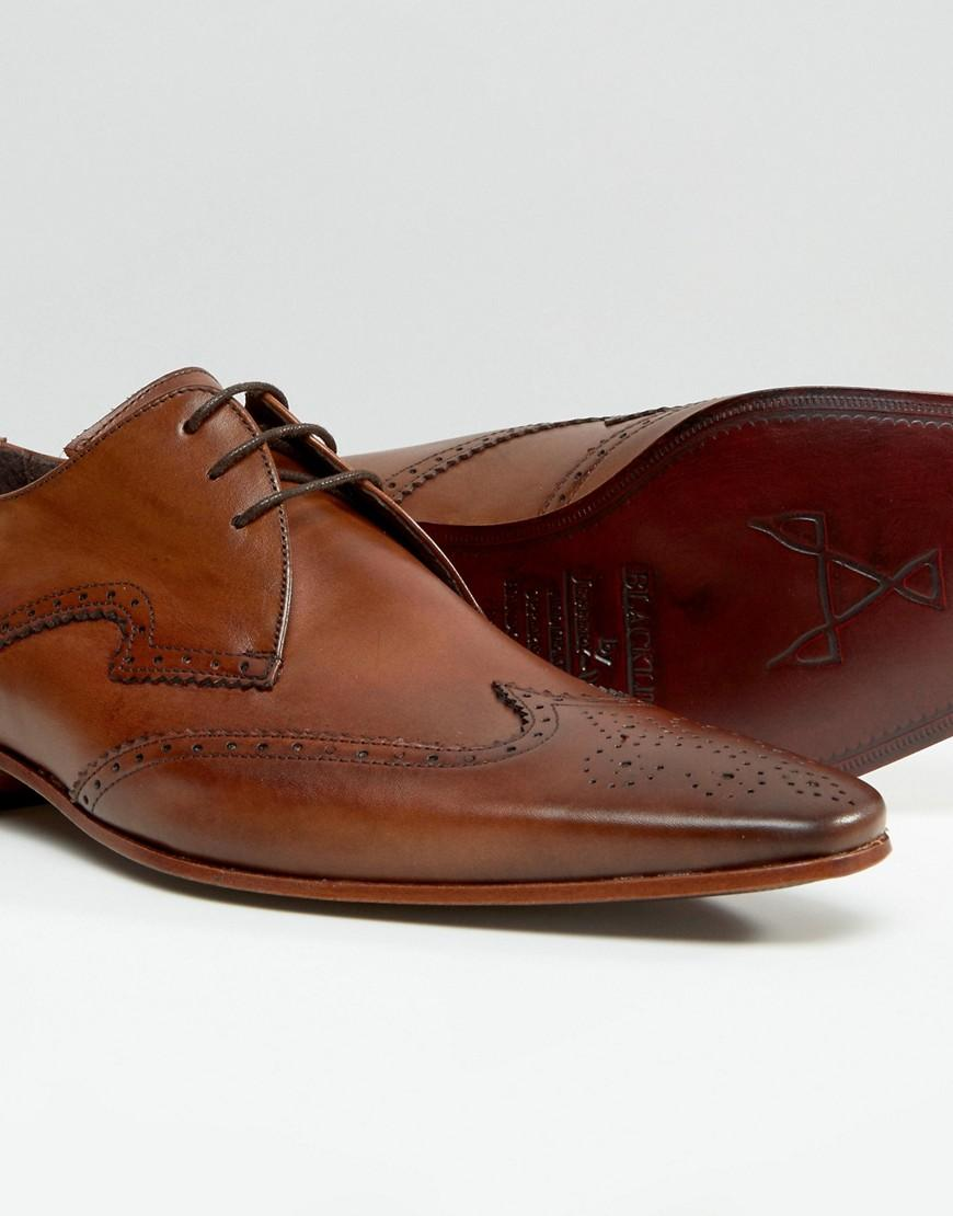 Jeffery West Escobar Leather Derby Brogues in Tan (Brown) for Men