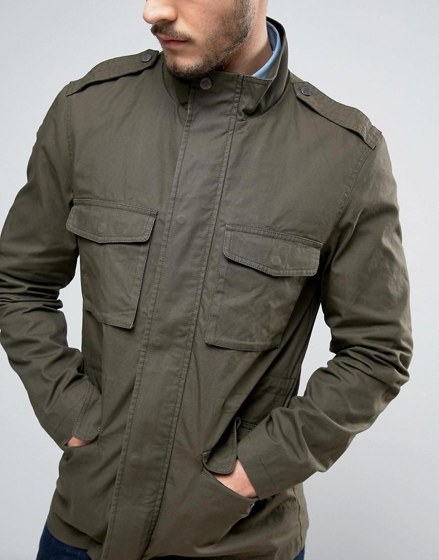 Jack Wills Cotton Kirkconnel Field Jacket In Olive in Green for Men