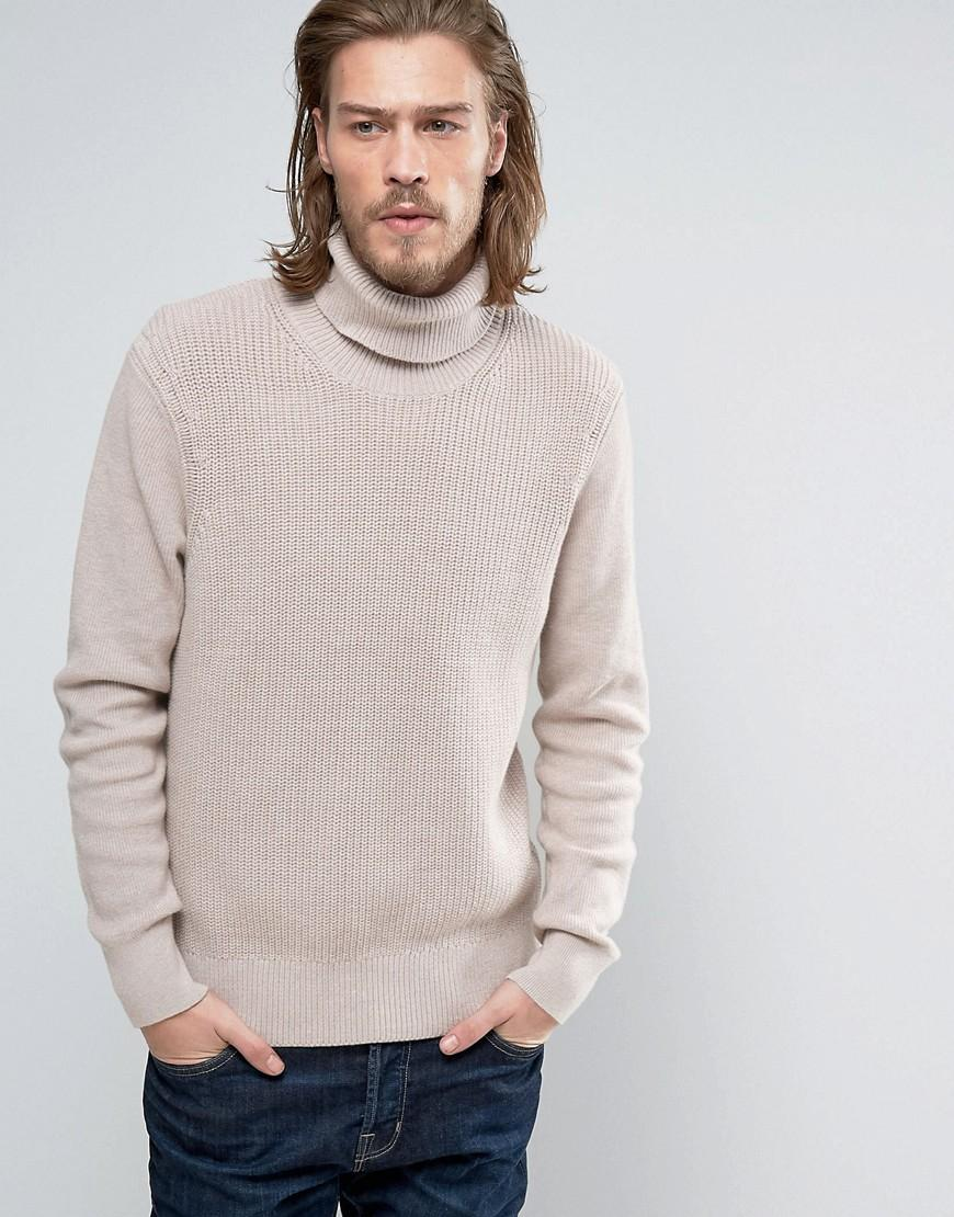Allsaints Knitted Roll Neck Sweater for Men Lyst