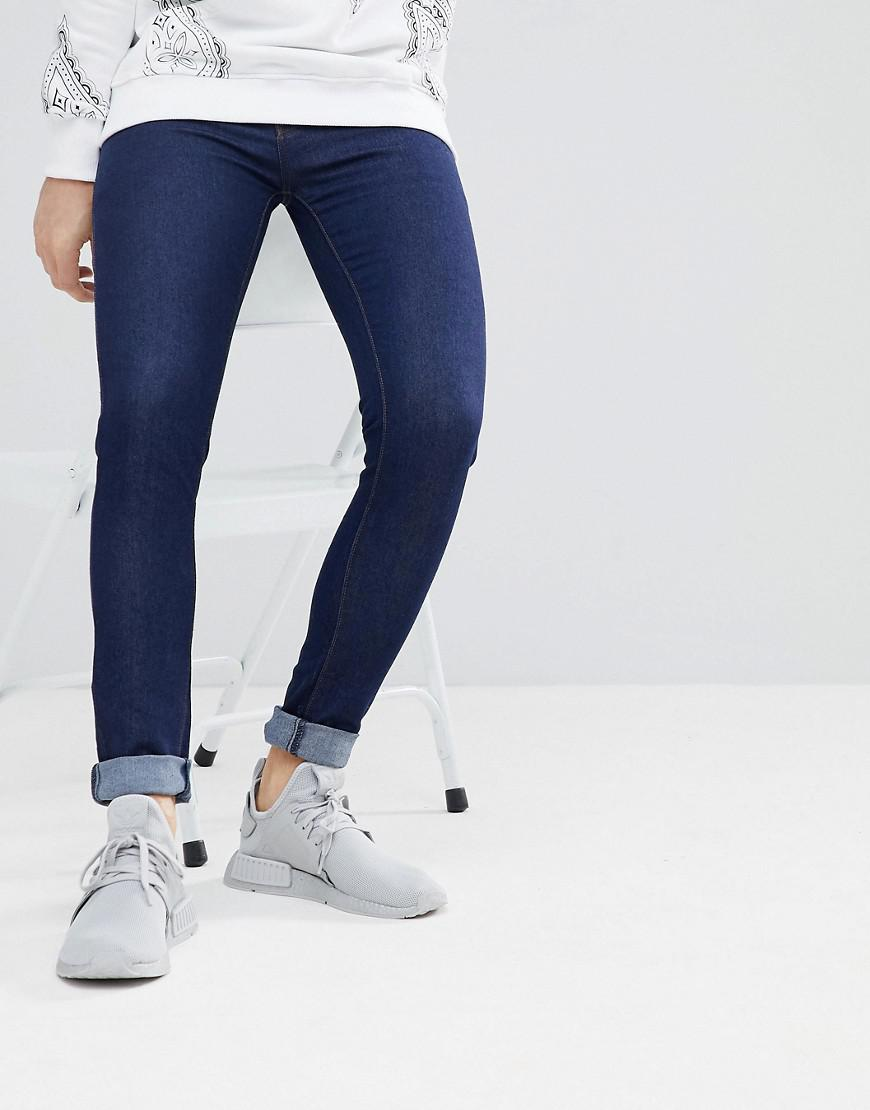 Super Skinny Jeans in Indigo Ripped - Navy Criminal Damage jIHjd
