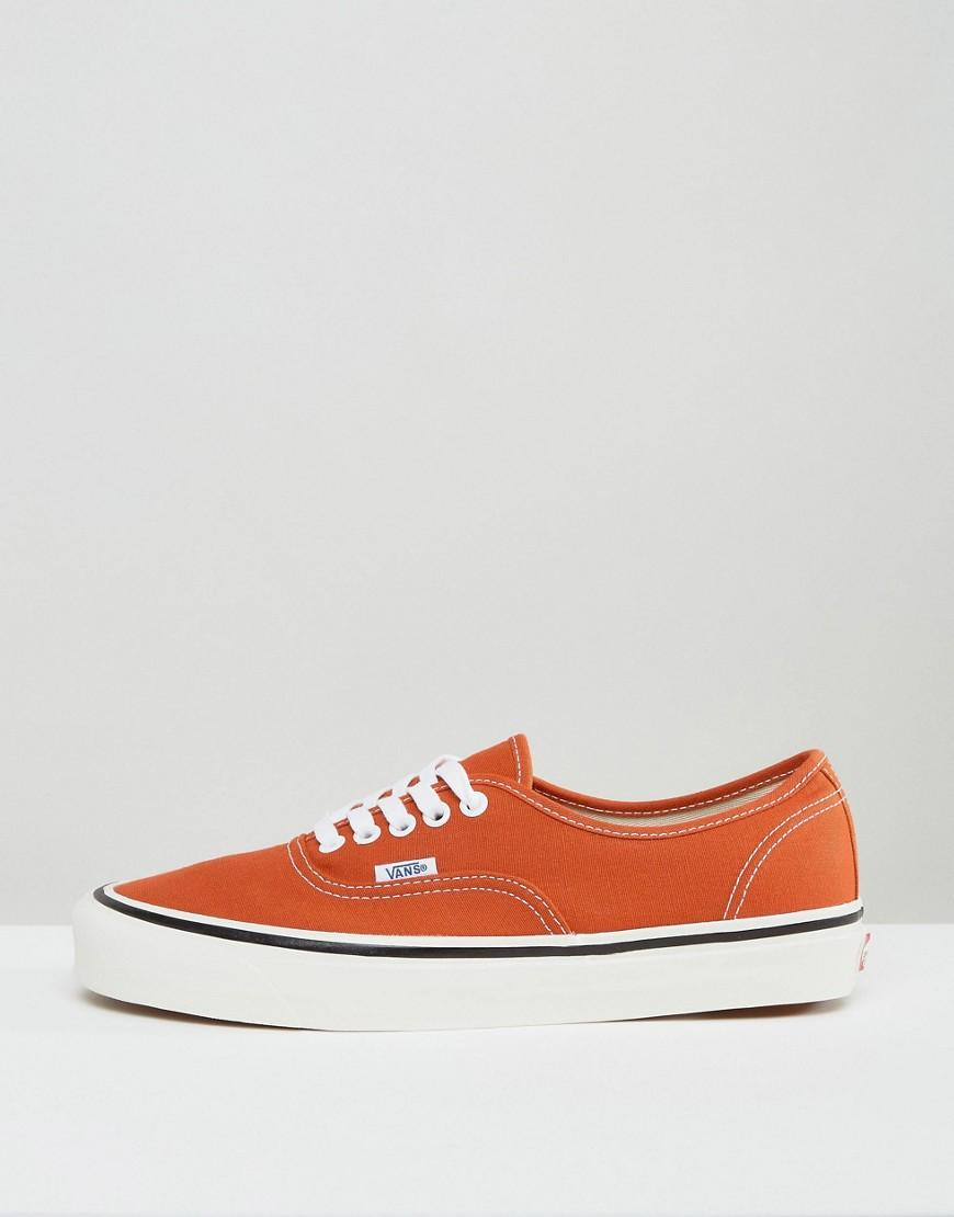 Vans Anaheim Pack Authentic 44 Dx Plimsolls In Orange Va38enmr8 for Men