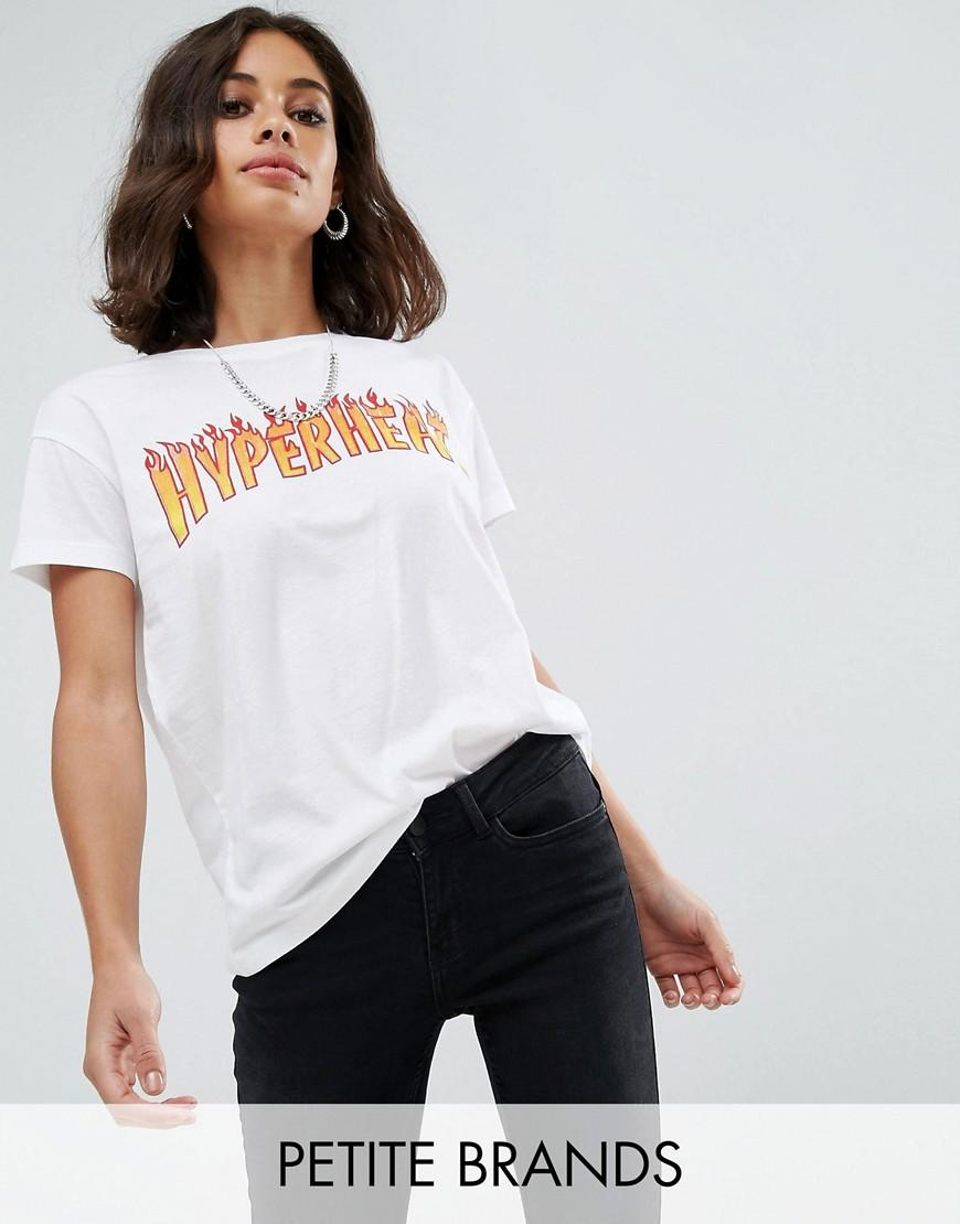 Noisy May Petite Logo T Shirt In White Lyst