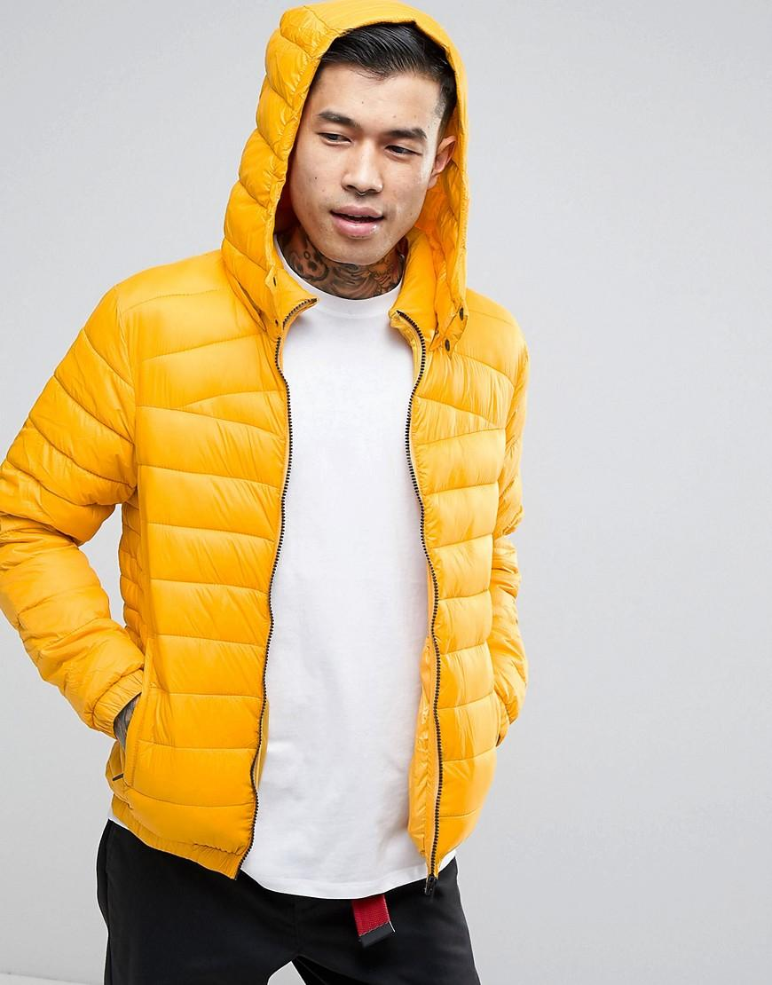 Bershka Puffer Jacket In Yellow in Yellow for Men | Lyst