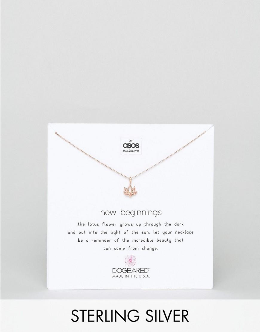 Lyst Dogeared X Asos Exclusive Rose Gold Plated New Beginnings