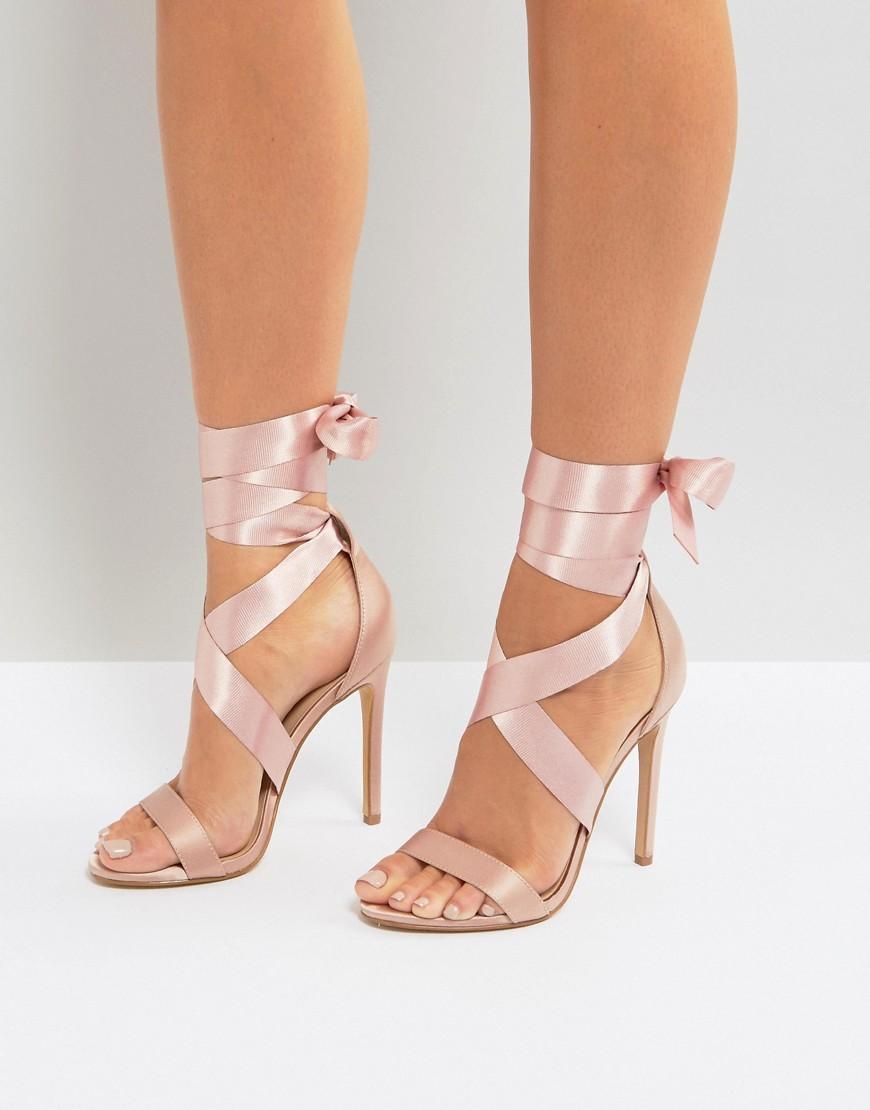 Black Wimens High Heeled Wide Fit Dress Shoes
