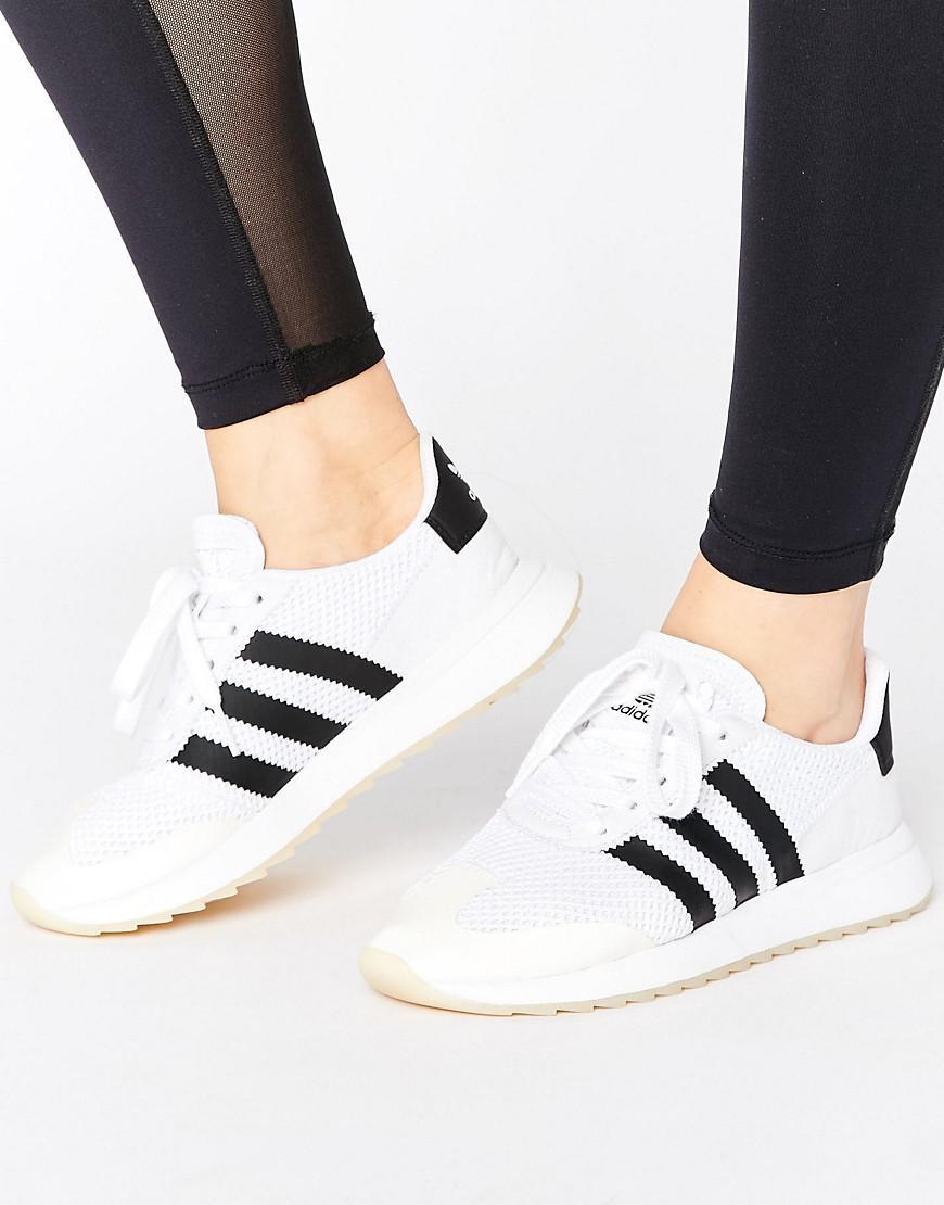 Womens Adidas Flb Trainers Black & White