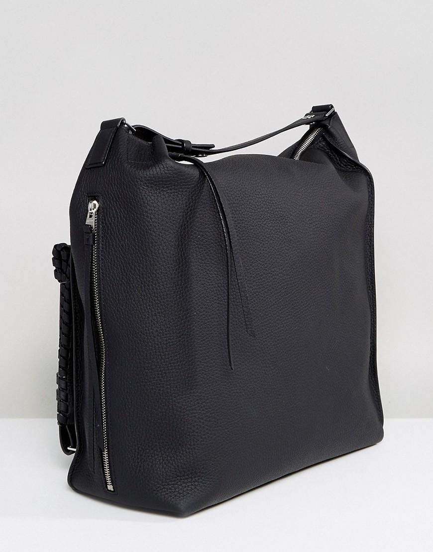 lyst allsaints kita backpack in black. Black Bedroom Furniture Sets. Home Design Ideas