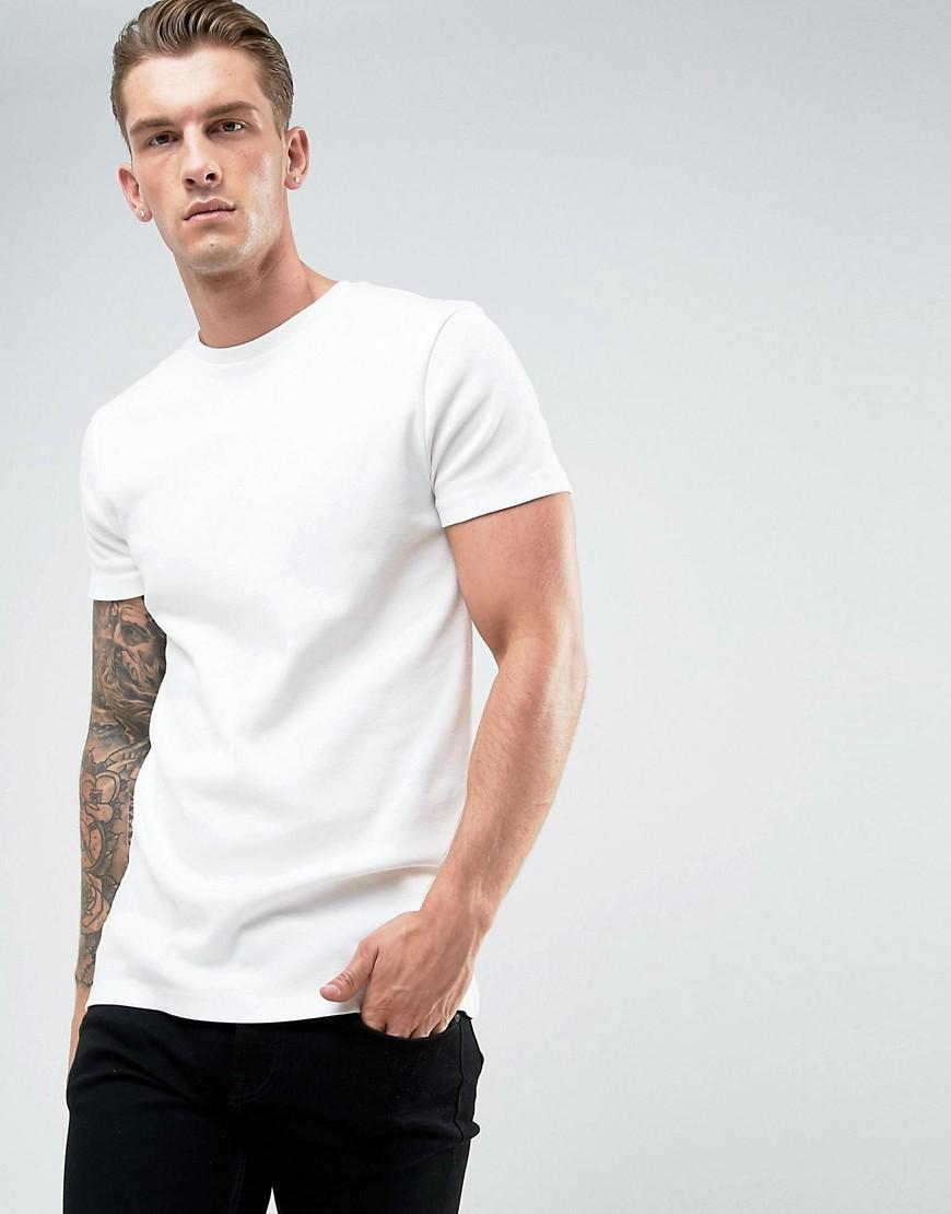 Asos Longline Muscle T Shirt In Heavyweight Micro Rib In
