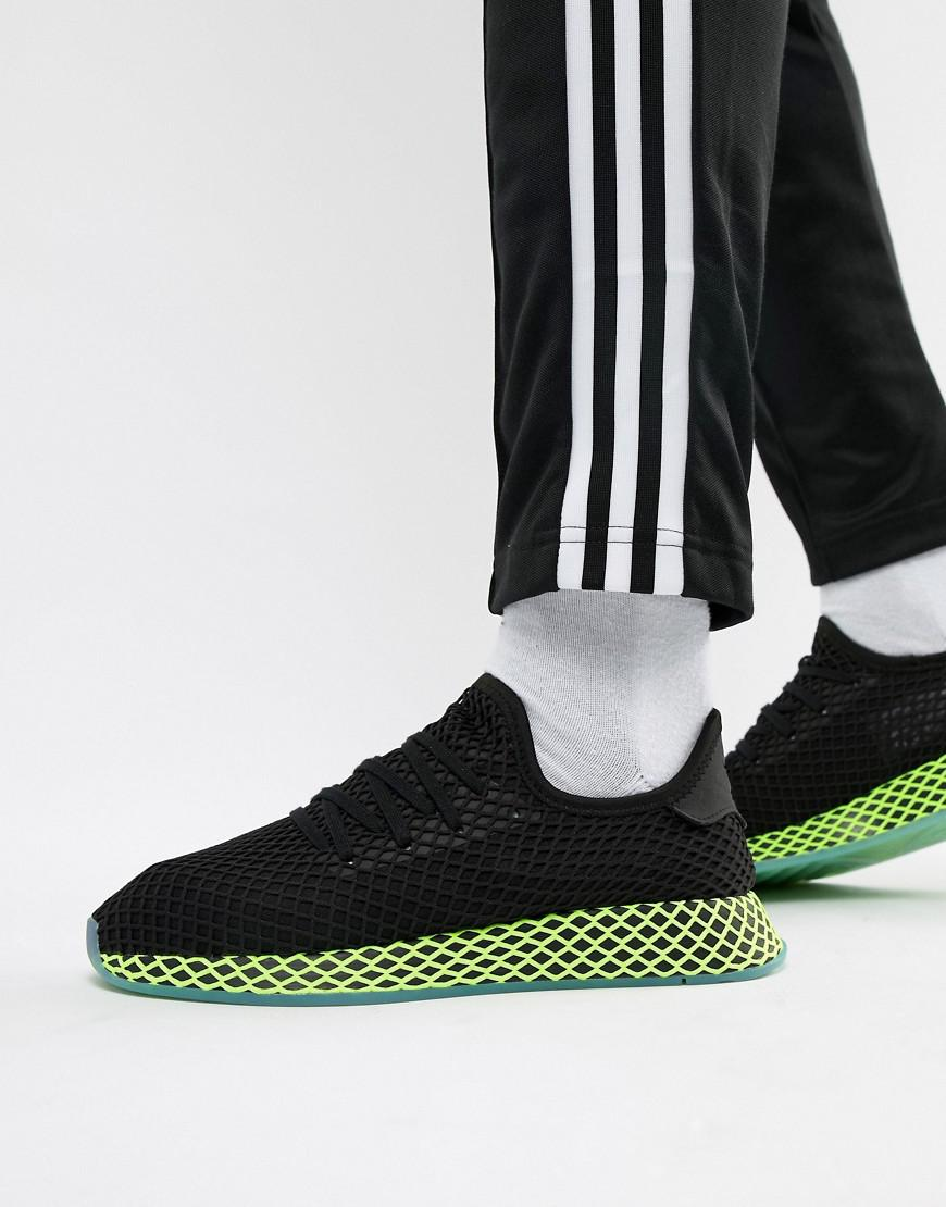 e744434b44b82 adidas Originals Deerupt Trainers In Black B41755 in Black for Men ...