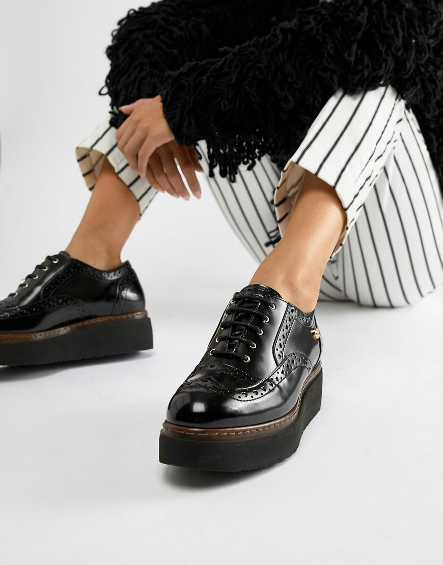 3418830abff Love Moschino Chunky Flatform Shoes in Black - Lyst