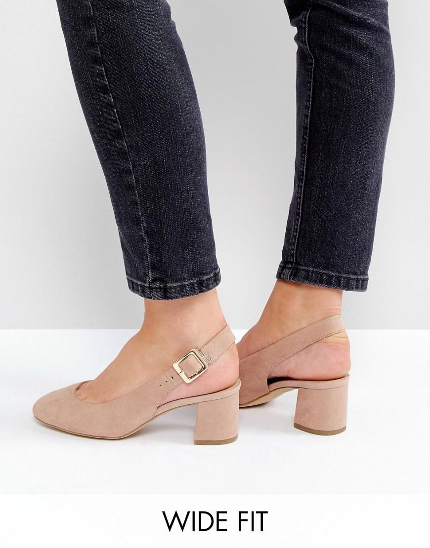 Asos Wide Nude Shoe
