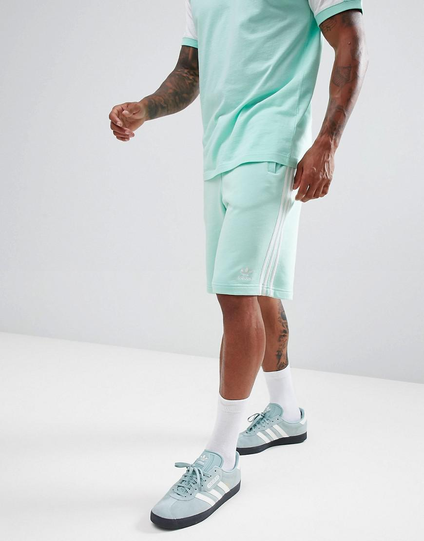 adidas Originals 3-stripe Jersey Shorts In Green Dh5797 for Men - Lyst