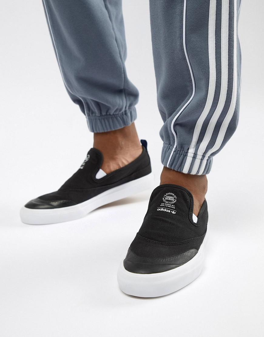 40bbc40b2d06b Lyst - adidas Originals Matchcourt Slip-on Trainers In Black Cq1132 ...