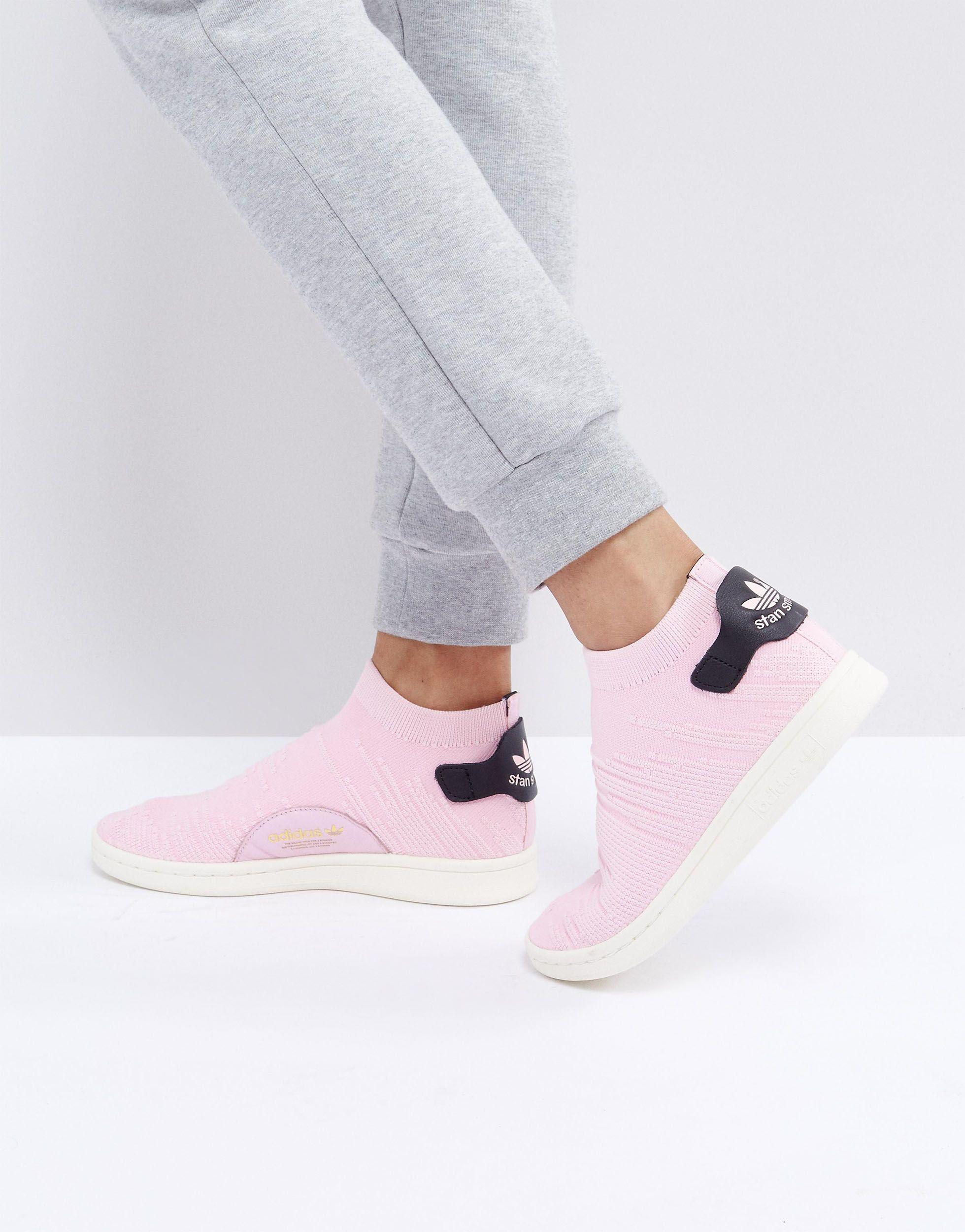 Stan Smith Primeknit - Baskets chaussettes Cuir adidas Originals ...