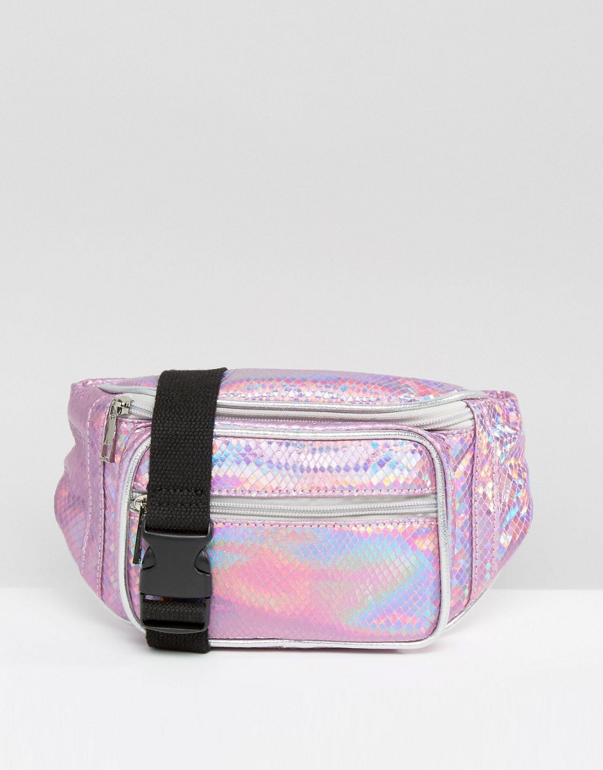 Missguided Holographic Bum Bag In Pink Lyst