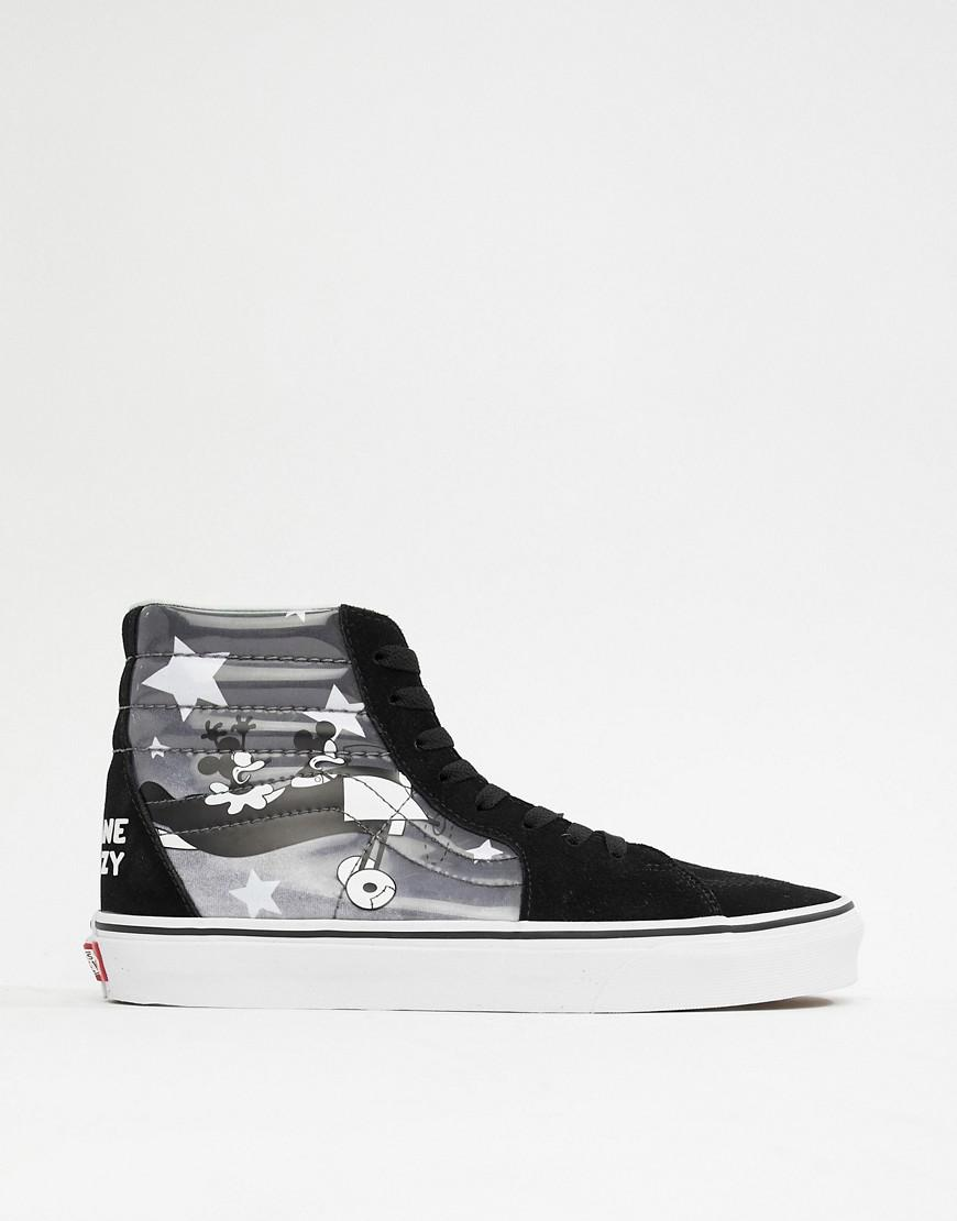 51358c57966 Vans X Mickey Mouse Sk8-hi Trainers In Black Vn0a38geupo1 in Black ...