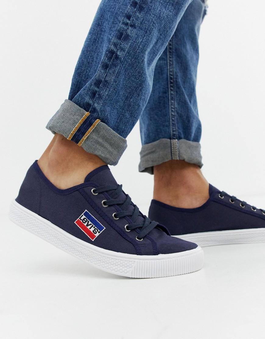 6b475a852580 Levi's Levi's Malibu Sportswear Canvas Trainers Navy in Blue for Men ...