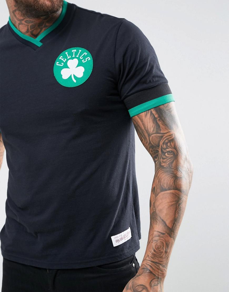 80905388d86 Mitchell   Ness Nba Boston Celtics Vintage T-shirt in Black for Men ...
