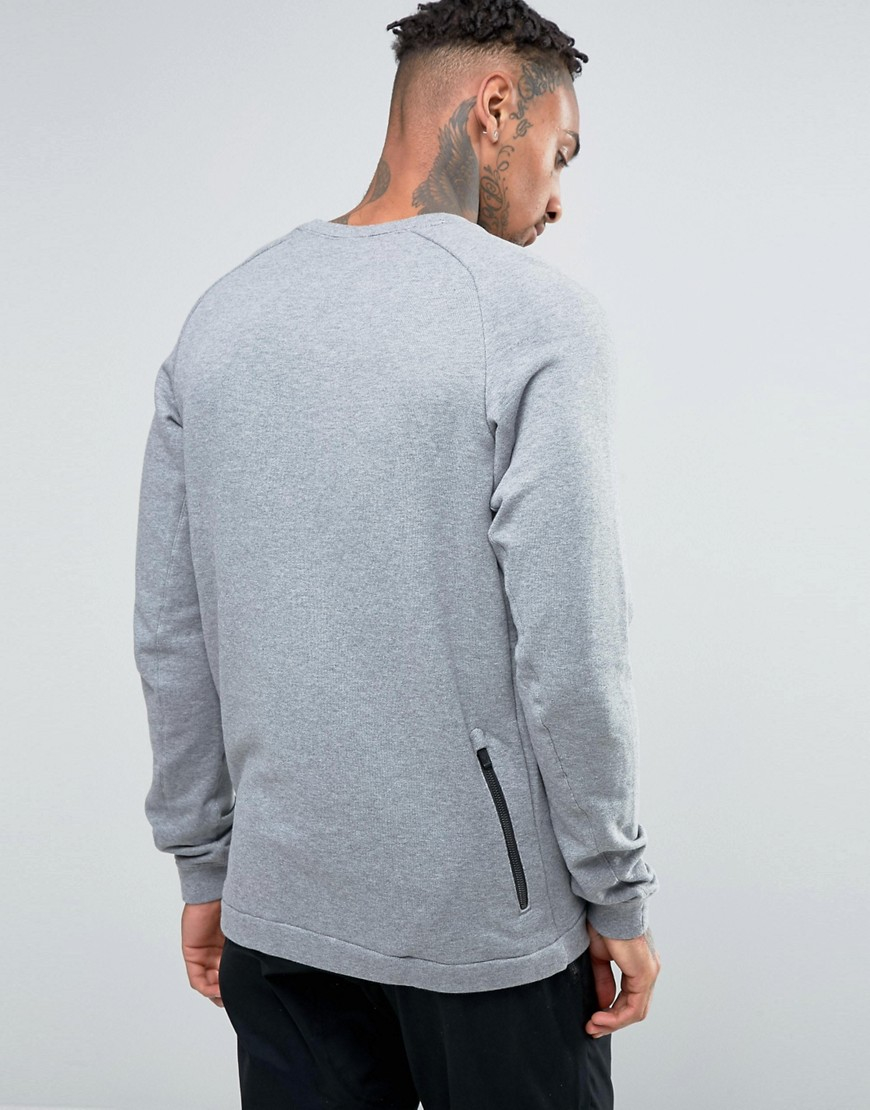 Nike Cotton Modern Crew Sweatshirt In Grey 805126-091 - Grey in Grey for Men