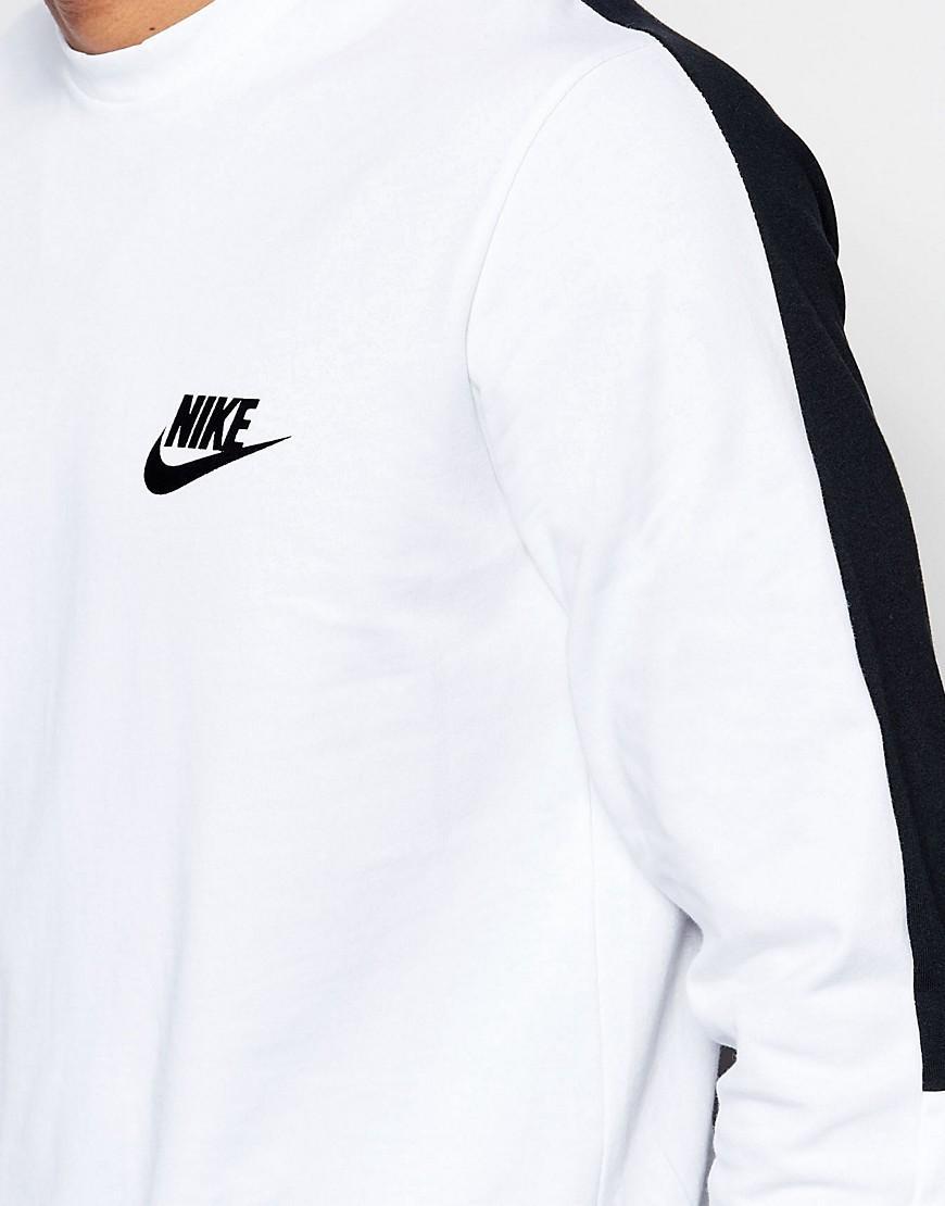 Nike Cotton Longsleeve Top In Blue 808720-100 for Men