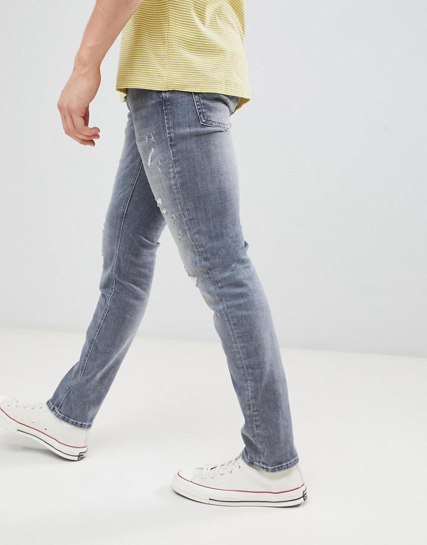 timeless design b7e3c b3f8f Men's Intelligence Glenn Slim Jeans In Black Wash