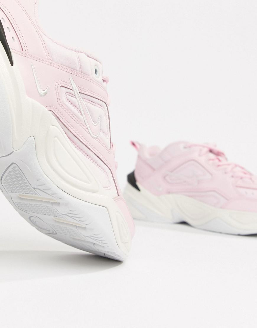 94d40d0b5b65b3 Nike Pink With Contrast Sole M2k Tekno Trainers in Pink - Lyst