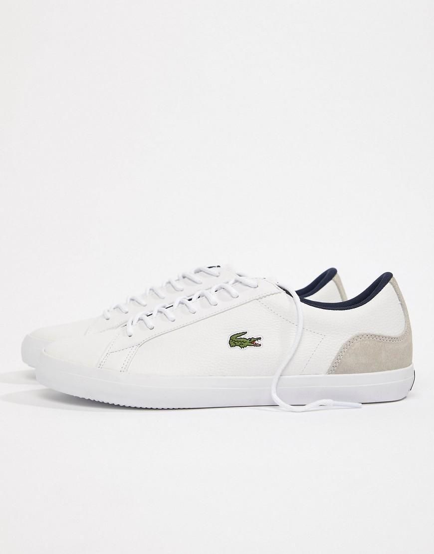 3 Lerond 318 Blanc Pour Baskets Cuir Coloris White En Lacoste Homme 3qS54ARjLc