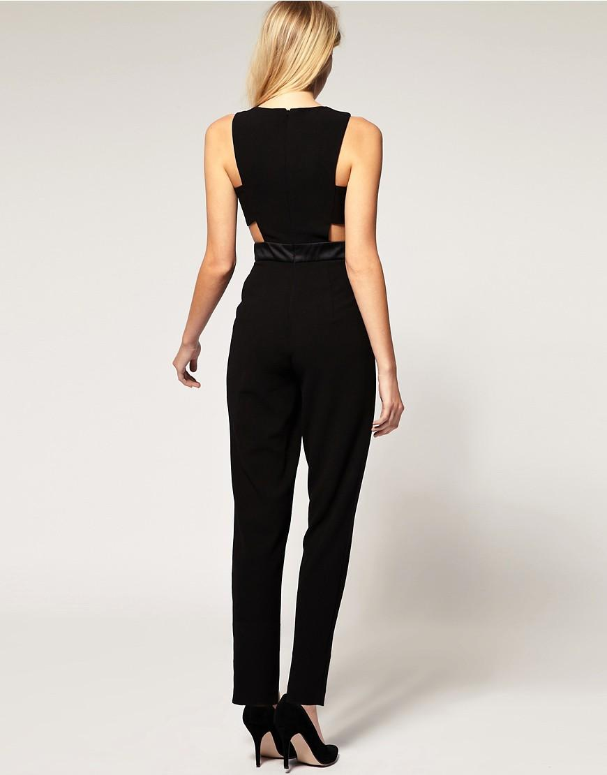 Asos Exclusive Cut Out Side Jumpsuit In Black Lyst