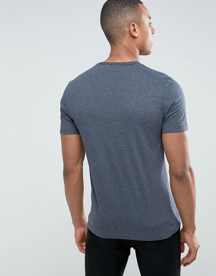 Lyst original penguin peached jersey t shirt in blue for men for Golf shirt with penguin logo