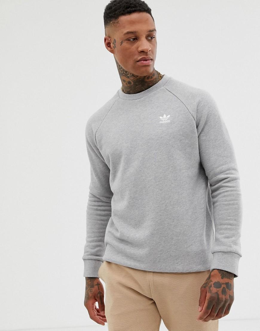90b7862bfb1f Lyst - adidas Originals Essentials Sweatshirt Small Logo In Gray in ...